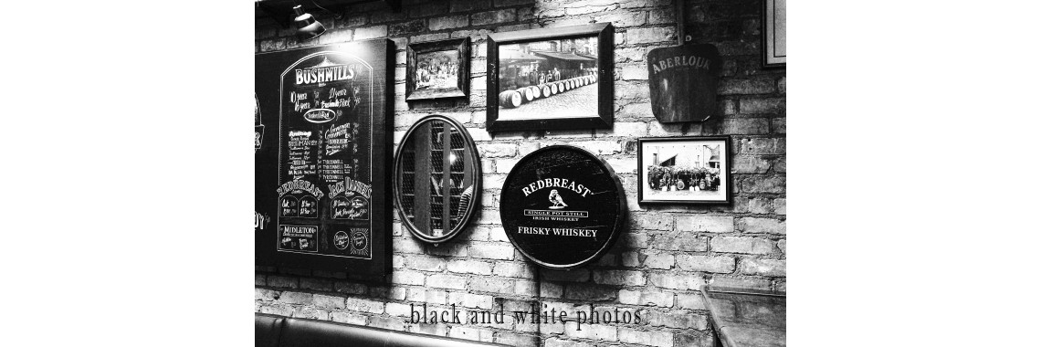 Black and white phots